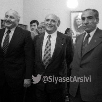 Ձախից աջ՝ Ն. Էրբաքան, Ս. Դեմիրել, Ա. Թյուրքեշ