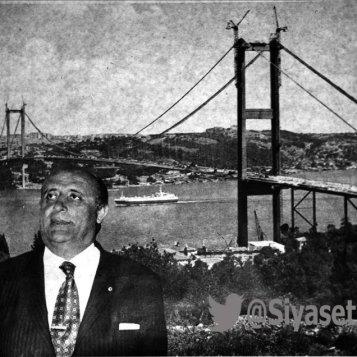 Ս. Դեմիրելի նախընտրական պաստառներից մեկը՝ իր կողմից կառուցված Բոսֆորի կամուրջի հետ